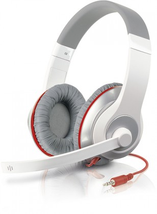 Cez hlavu AUX Stereo Headset, black-silver