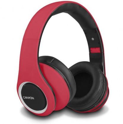Cez hlavu CANYON sluchátka stereo DJ, červená