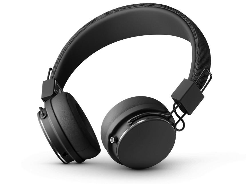 Cez hlavu Designová sluchátka Urbanears PLATTAN II BT,černá, Bluetooth