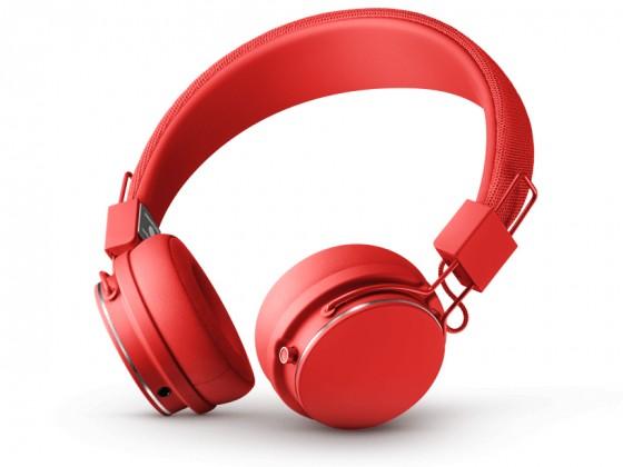 Cez hlavu Designová sluchátka Urbanears PLATTAN II,červená, Bluetooth
