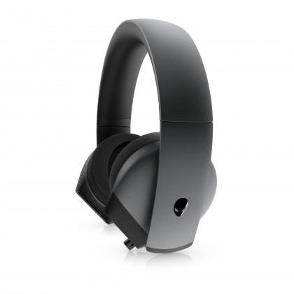 Cez hlavu Herné slúchadlá DELL Alienware AW510H, mikrofón, drôtová, čierna