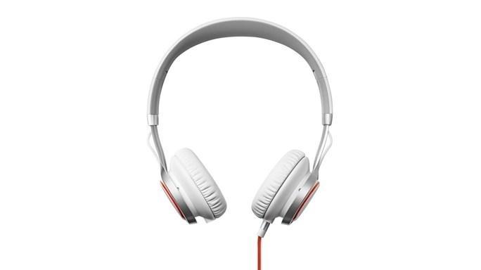 Cez hlavu Jabra REVO přenosná stereo sluchátka/HF sada,White