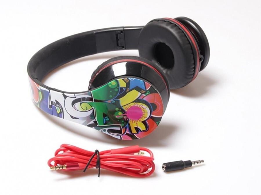 Cez hlavu Media-Tech Grafitti stereo slúchadlá s mikrofónom