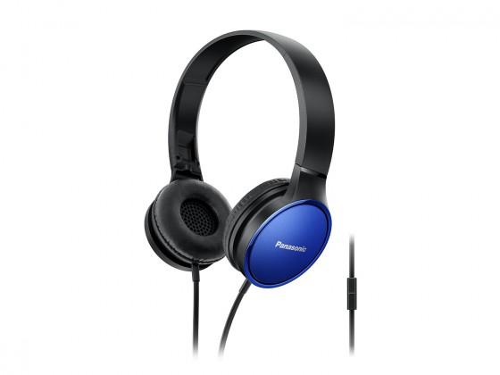 Cez hlavu Panasonic RP-HF300ME, modrá RP-HF300ME-A