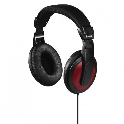 Cez hlavu Slúchadlá Hama HK-3031, 93031 čierna/červená