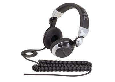Cez hlavu  Sluchátka Panasonic RP-DJ1210E-S, černo-stříbrná