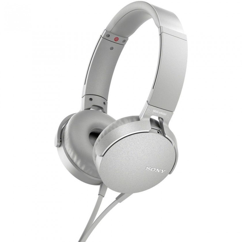 Cez hlavu Sony MDR-XB550AP, bílá MDRXB550APW.CE7
