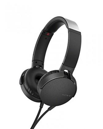 Cez hlavu Sony MDR-XB550AP, černá MDRXB550APB.CE7