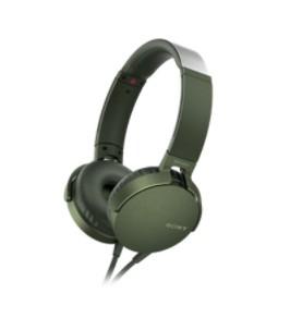 Cez hlavu Sony MDR-XB550AP, zelená MDRXB550APG.CE7