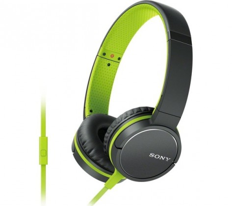 Cez hlavu SONY MDR-ZX660AP - Green