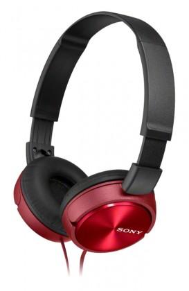 Cez hlavu Sony Slúchadlá MDRZX310AP červená