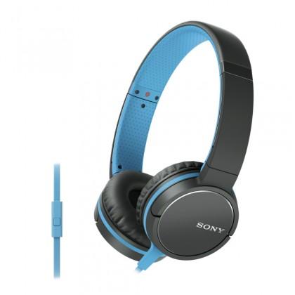 Cez hlavu Sony Slúchadlá MDRZX660AP modrá