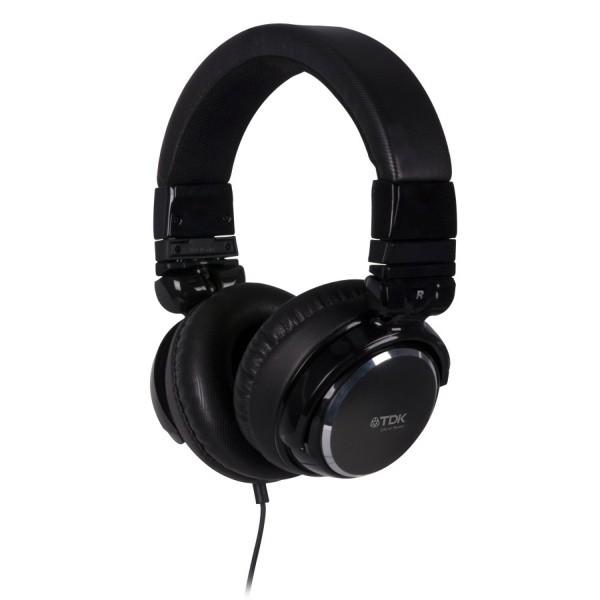 Cez hlavu TDK ST410, FULL SOUND čierna slúchadlá v štýle DJ