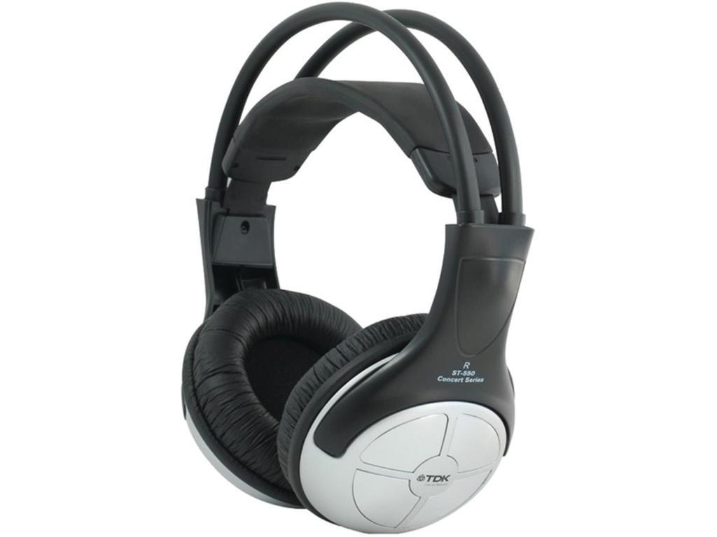 Cez hlavu TDK ST550, FULL SOUND čierna slúchadlá