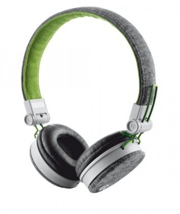 Cez hlavu Trust Fyber Headphone - grey/green