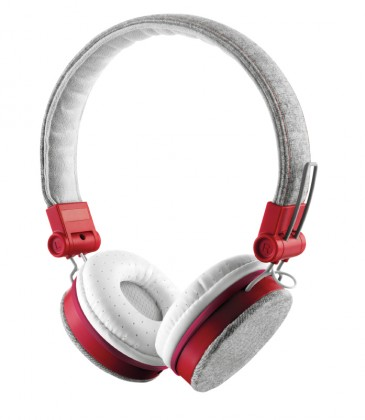 Cez hlavu TRUST Fyber Headphone - grey/red (20073)