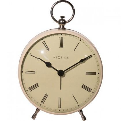 Charles - hodiny, stojaté, guľaté (kov, biele)