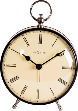 Charles - hodiny, stojaté, guľaté (kov, čierne)