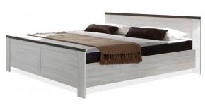 Chateau - posteľ 180x200 (dub biely/lava čierny)