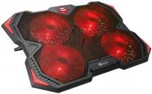 """Chladiaca podložka C-TECH Zefyros GCP-01R, 17,3"""", červené podsv."""