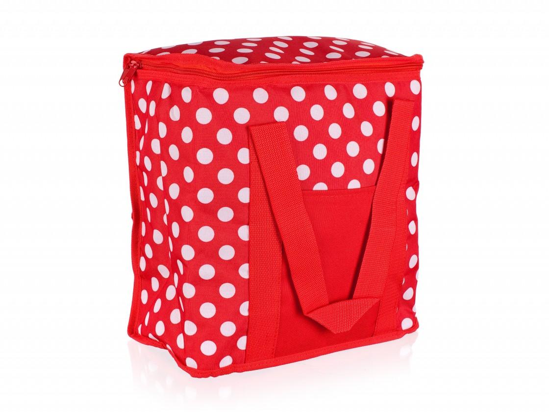 Chladiaca taška veľká (červená, biela)