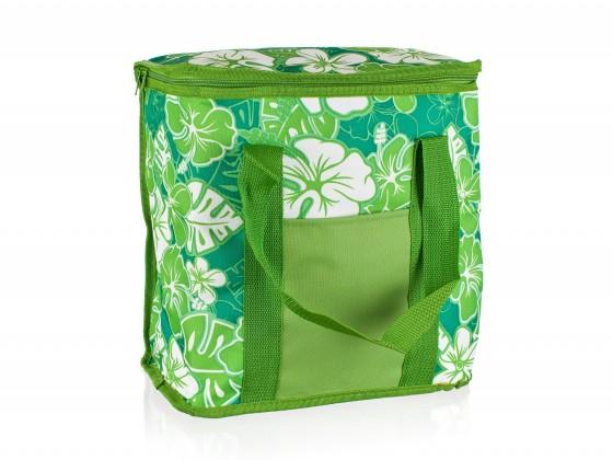 Chladiaca taška veľká (zelená s kvetmi)