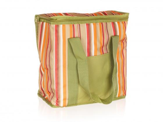 Chladiaca taška veľká (zelená s pruhmi)