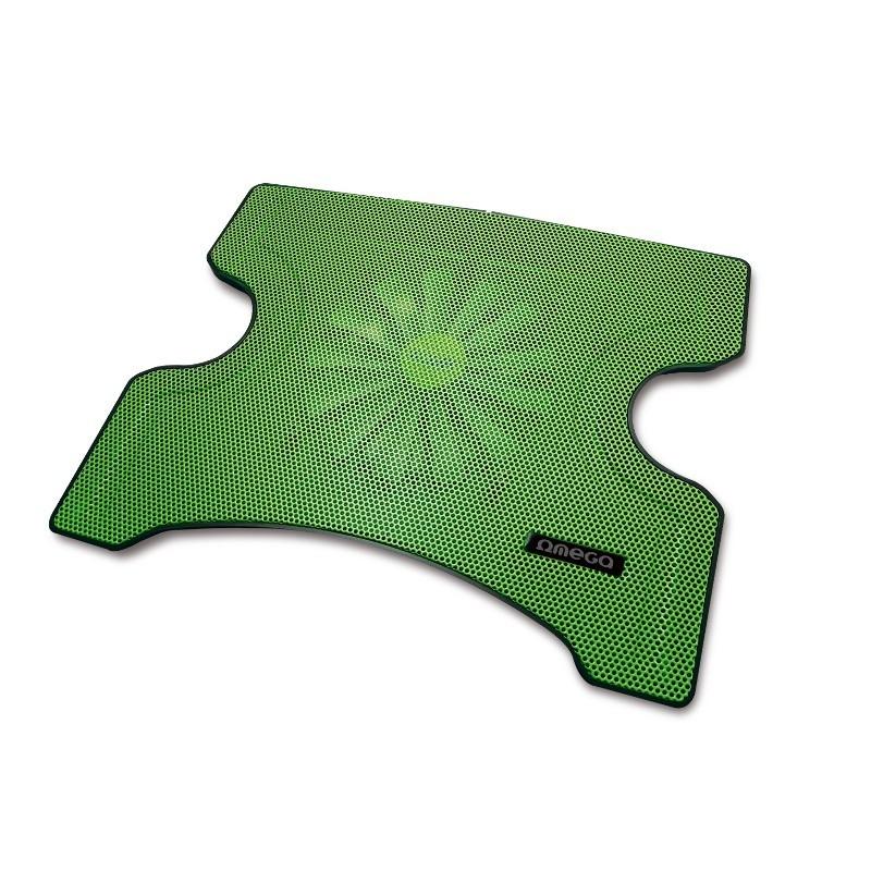 Chladiace podložky OMEGA chladiaca podložka FRIDGE 1 ventilátor, 2USB, zelená