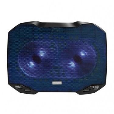 Chladiace podložky Podstavec pod notebook OMEGA ARCTIC, 2x  modrý LED 14cm vetrák
