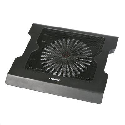 Chladiace podložky Podstavec pod notebook OMEGA CoolWave VADER, 20cm vetrák, 2 USB