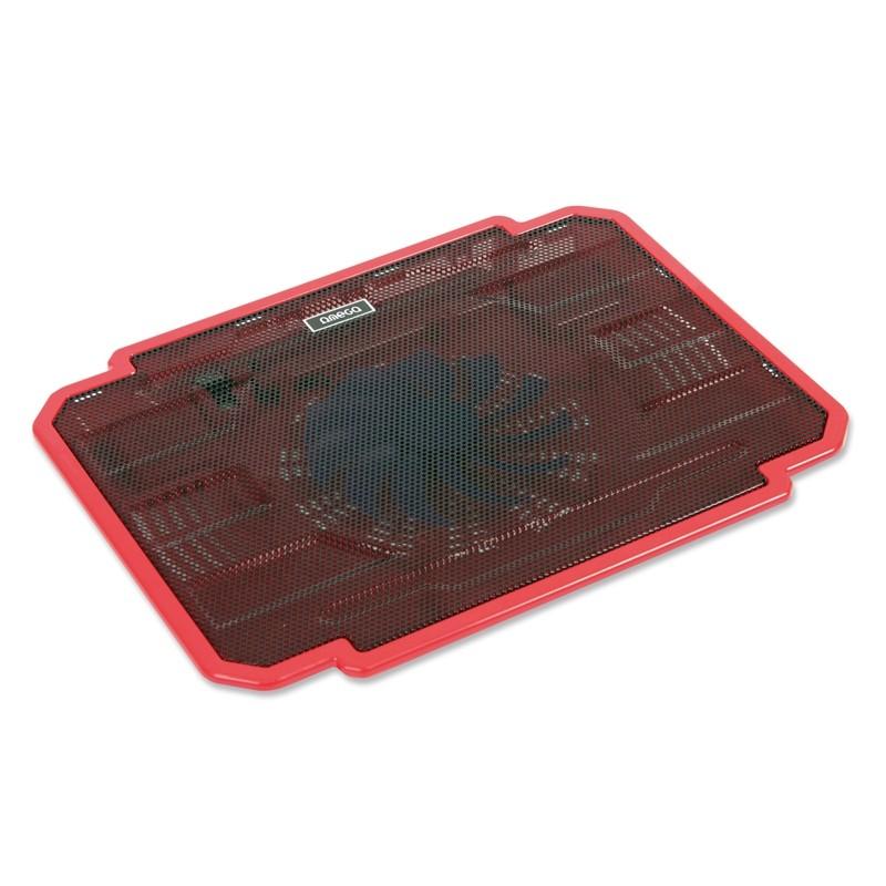 Chladiace podložky Podstavec pod notebook OMEGA ICE BOX, 14cm větrák, červený ROZBAL