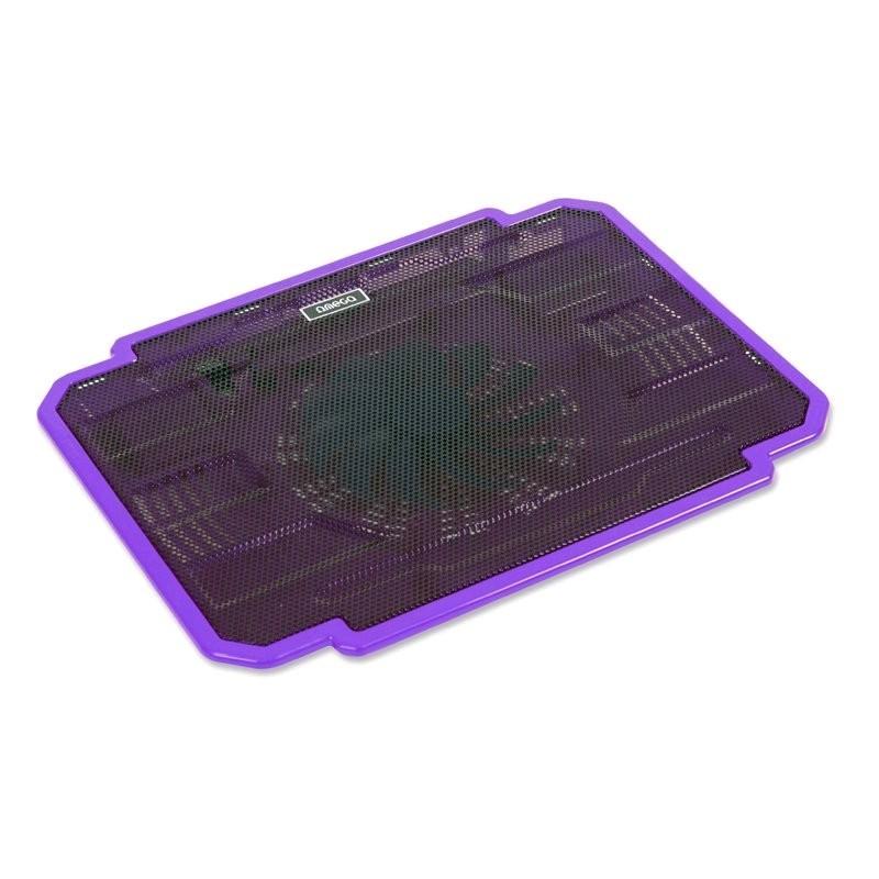 Chladiace podložky Podstavec pod notebook OMEGA ICE BOX, 14cm vetrák, fialový