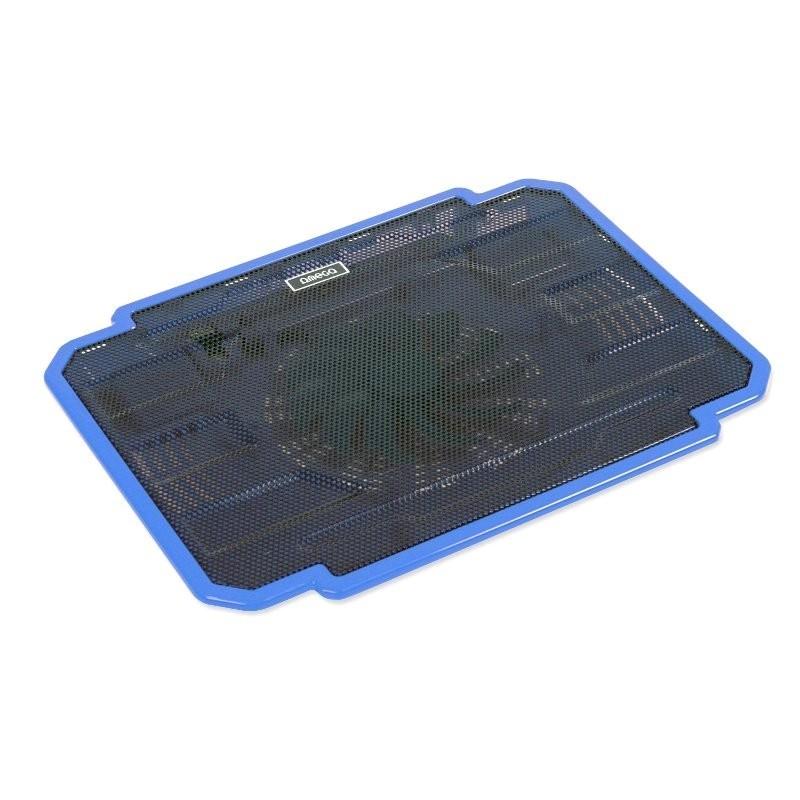 Chladiace podložky Podstavec pod notebook OMEGA ICE BOX, 14cm vetrák, modrý