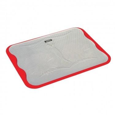 Chladiace podložky Podstavec pod notebook OMEGA ICE CUBE, 2x 14cm vetrák, červený