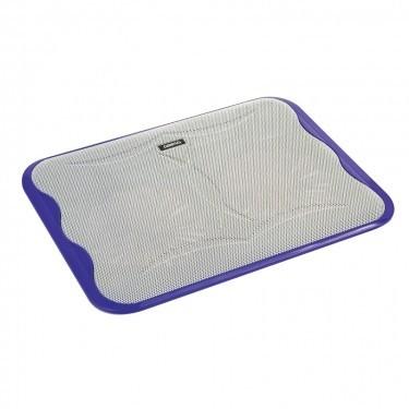 Chladiace podložky Podstavec pod notebook OMEGA ICE CUBE, 2x 14cm vetrák, fialový