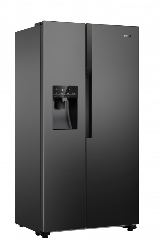 Chladničky s mrazničkou dole Americká chladnička Gorenje NRS9182VB,A++,černá