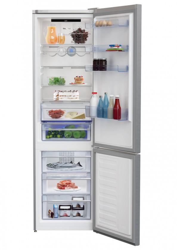Chladničky s mrazničkou dole Kombinovaná chladnička s mrazničkou dole BEKO MCNA406E30ZXB, A++