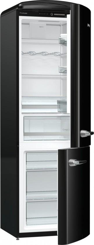 Chladničky s mrazničkou dole Kombinovaná chladnička s mrazničkou dole Gorenje ORK192BK