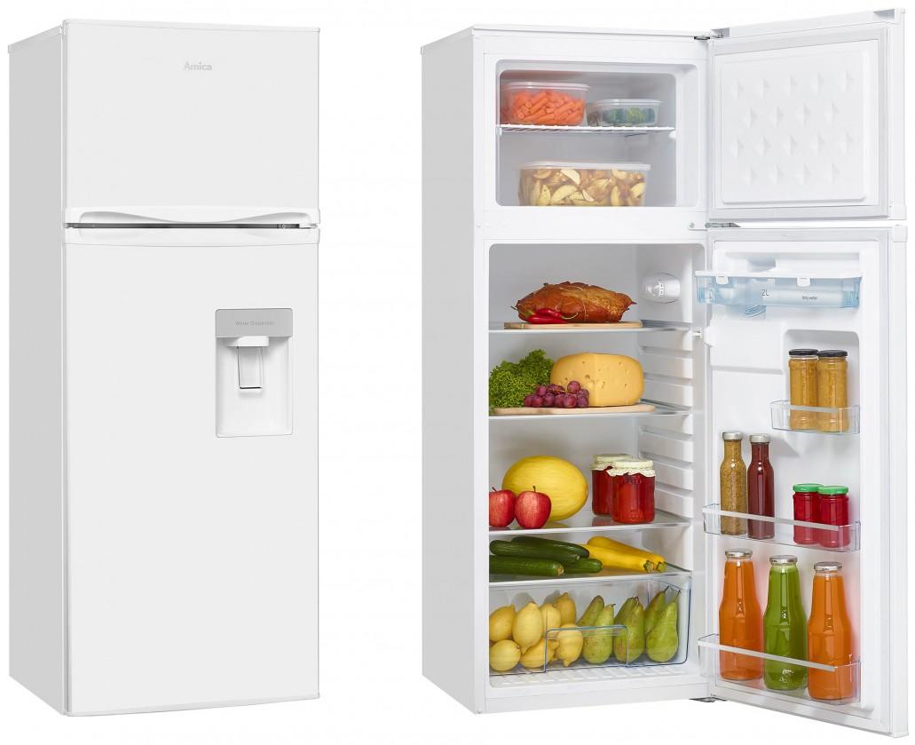 Chladničky s mrazničkou hore Kombinovaná chladnička s mrazničkou hore Amica VD 1441 AWW