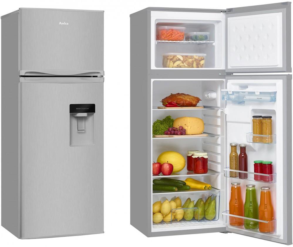 Chladničky s mrazničkou hore Kombinovaná chladnička s mrazničkou hore Amica VD 1441 AWX