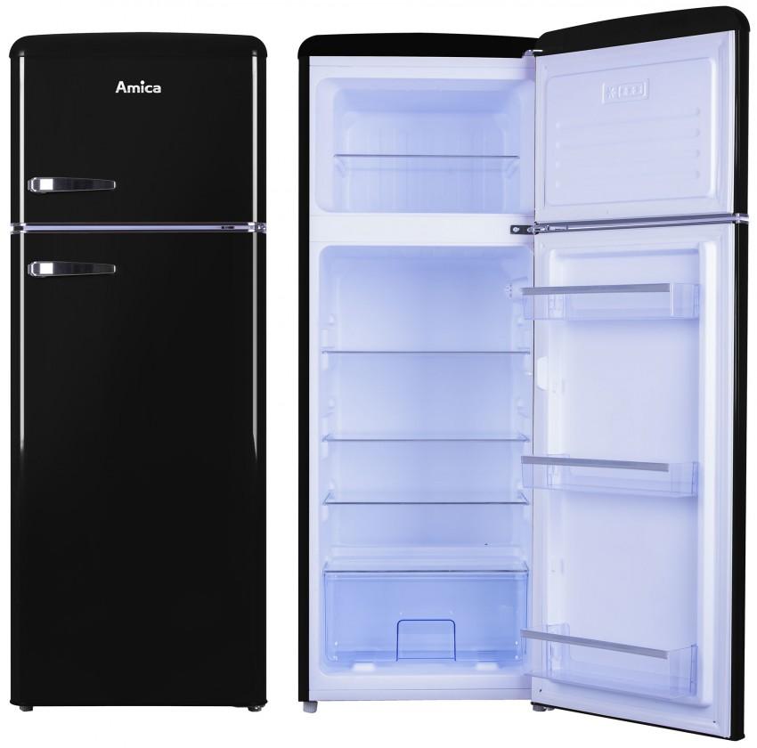 Chladničky s mrazničkou hore Kombinovaná chladnička s mrazničkou hore Amica VD 1442 AB