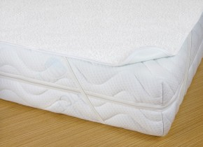 Chránič matraca s PVC, 90x200, biela