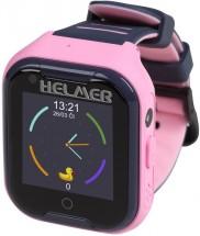 Chytré detské hodinky Helmer LK 709 s GPS lokátorom, ružová