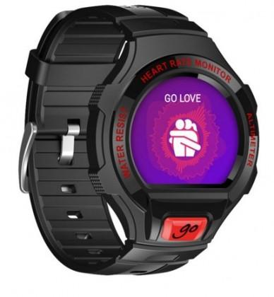 Chytré hodinky ALCATEL ONETOUCH GO WATCH SM03, Black/Dark Red
