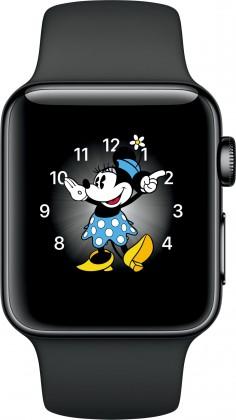 Chytré hodinky Apple Watch Series 2, 38mm pouzdro z  černé nerez. černá