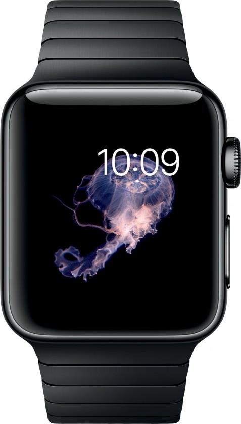 Chytré hodinky Apple Watch Series 2, 38mm pouzdro z černé nerez. oceli, černá
