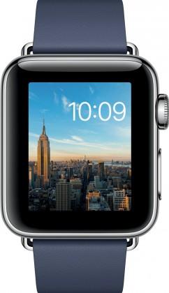 Chytré hodinky Apple Watch Series 2, 38mm pouzdro z nerez. oc+ půlnoč.modrá,M
