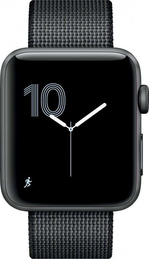 Chytré hodinky Apple Watch Series 2, 38mm pouzdro z  šedého AL + černá nyl