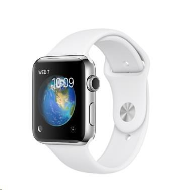 Chytré hodinky Apple Watch Series 2, 38mm puzdro z nerez.ocele + biela