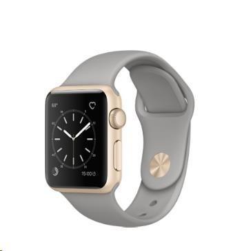 Chytré hodinky Apple Watch Series 2, 38mm puzdro zo zlatého AL + cementov.šedá